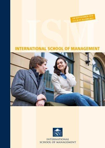 INTERNATIONAL SCHOOL OF MANAGEMENT - Staufenbiel Institut