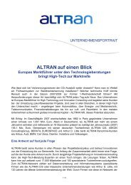 Example Altran Press Release