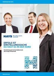 Direkteinstieg bei der Hays (Schweiz) - Hayscareer.net