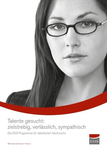Talente gesucht: zielstrebig, verlässlich, sympathisch