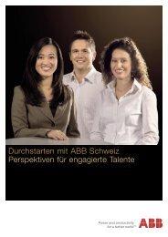 Durchstarten mit ABB Schweiz Perspektiven für engagierte Talente