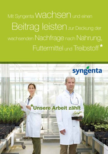 Growing with Syngenta