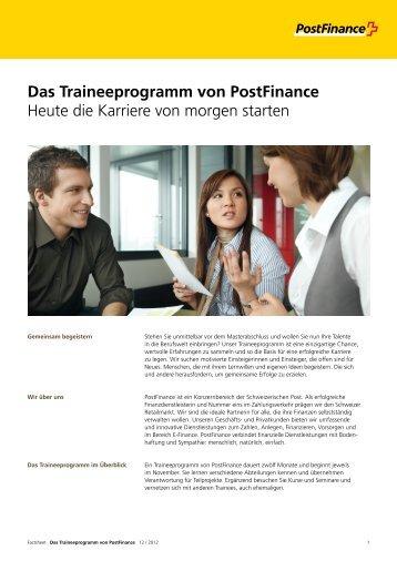 Factsheet Das Traineeprogramm