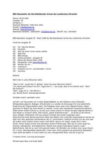 BBS-Newsletter der Berufsbildenden Schule des ... - BBS Ahrweiler