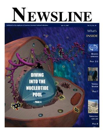ewsline - NEWSLINE - Lawrence Livermore National Laboratory