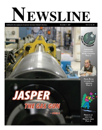 NEWSLINE - Lawrence Livermore National Laboratory