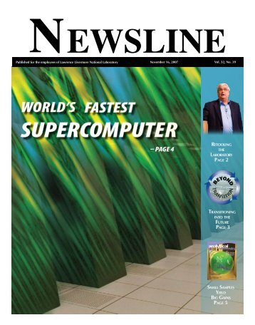 – Page 4 - NEWSLINE - Lawrence Livermore National Laboratory