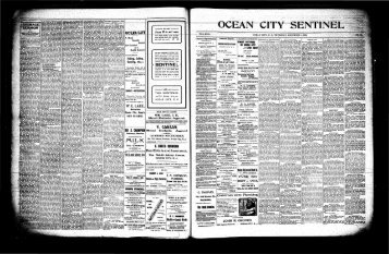 W. E, UKE, m - On-Line Newspaper Archives of Ocean City