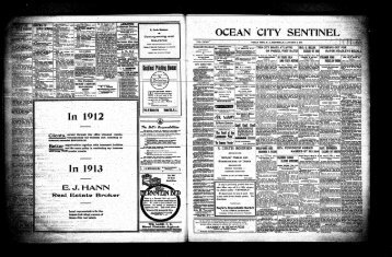 "OCEAN CITY SENTINEL ? ^ "" j O**1 - On-Line Newspaper Archives ..."