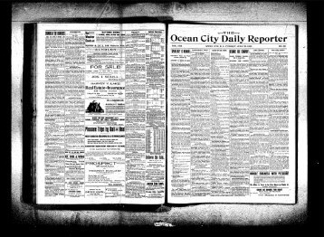 Jul 1901 - On-Line Newspaper Archives of Ocean City