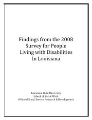 Findings from the 2008 Survey for People Living with Disabilities In ...