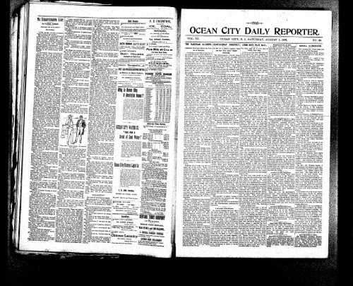 Aug 1896 On Line Newspaper Archives Of Ocean City