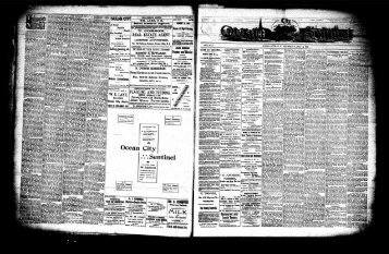 May 1901 - On-Line Newspaper Archives of Ocean City