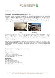 Bergromantik im Ganischgerhof Mountain Resort & Spa - Newsroom ...