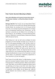 Metabo PI Petra-Toischer - Newsroom - Metabo