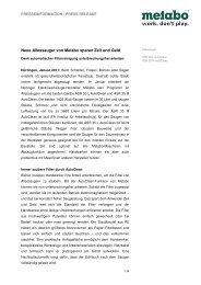 Neue Allessauger von Metabo sparen Zeit und Geld - Newsroom ...
