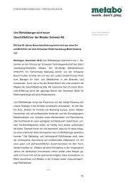 Metabo Personalie Schweiz Roethlisberger - Newsroom - Metabo