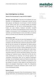Metabo PI Heissluftgeblaese - Newsroom - Metabo
