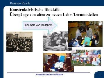 Konstruktivistische Didaktik – Übergänge von alten zu ... - Schule.at