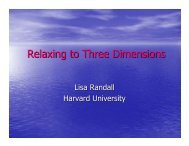 Relaxing to Three Dimensions - New Views of the Universe
