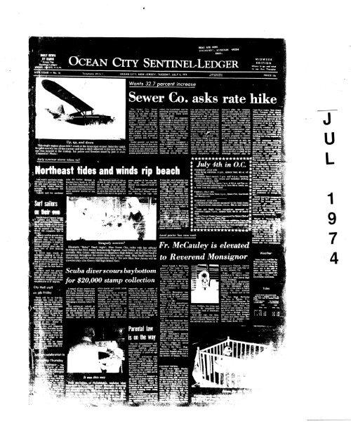 Jul 1974 On Line Newspaper Archives Of Ocean City