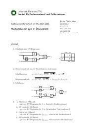 Musterlösungen zum 9.¨Ubungsblatt - next-internet.com