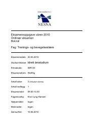 Oppgave i trenings og bevegelseslære - Høgskolen i Nesna