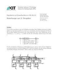 Musterlösungen zum 12. Übungsblatt - next-internet.com