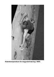 Klatrekompendium for begyndertræning i NKK. - Ribe Klatreklub