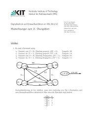 Musterlösungen zum 11. Übungsblatt - next-internet.com