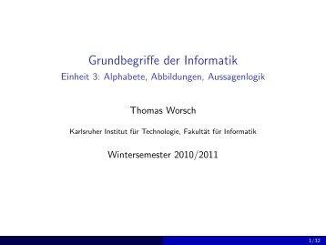 Alphabete, Abbildungen, Aussagenlogik - next-internet.com