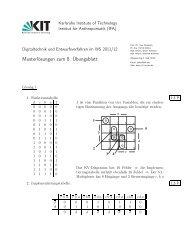Musterlösungen zum 8. Übungsblatt - next-internet.com