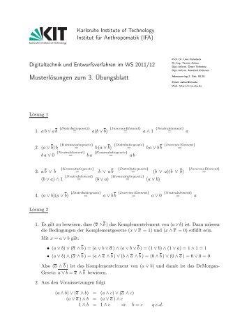 Musterlösungen zum 3. Übungsblatt - next-internet.com