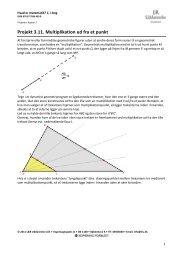 Projekt 3.11. Multiplikation ud fra et punkt - L&R Uddannelse