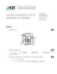 Musterlösungen zum 6. Übungsblatt - next-internet.com