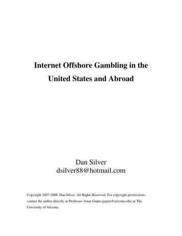 offshore internet gambling and the world trade organization essay Free investment banking papers profit-hungry world of investment banking can seem like a bigger-than internet banking - internet banking in the.