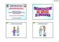 Organizzazione servizi di emergenza - Facoltà di Medicina e Chirurgia