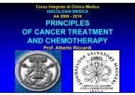 I. Principles of cancer treatment and of chemotherapy