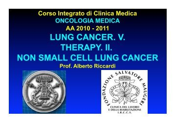 LUNG CANCER. V. THERAPY. II. NON SMALL CELL LUNG CANCER