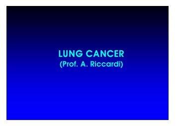 Prof. A. Riccardi - Facoltà di Medicina e Chirurgia