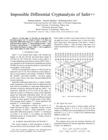 des differential cryptanalysis The experimental results have shown that the linear cryptanalysis of des has a far lower complexity as  differential cryptanalysis of the data en.