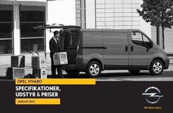 Specifikationer, udStyr & priSer - Opel.dk
