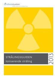 strålingsguiden ioniserende stråling - Sundhedsstyrelsen