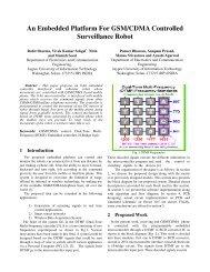 An Embedded Platform For GSM/CDMA Controlled Surveillance Robot