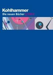Vorschau neuer Bücher - Kohlhammer