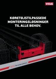 Køretøjstilpassede monteringsløsninger til alle ... - VBG Group Sales