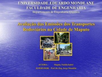 Avaliação das Emissões dos Transportes Rodoviários na Cidade de ...