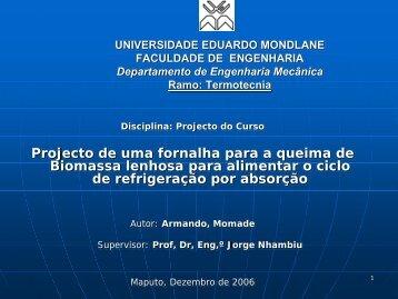 Projecto De Uma Fornalha Para A Queima De Biomassa Lenhosa ...
