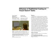 Influence of Subliminal Cueing on Visual Search Tasks