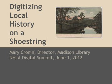 Digitizing Local History on a Shoestring